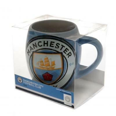Manchester City Fc Tea Tub Mug Cup Coffee Ceramic In Clear Gift Pack New Xmas