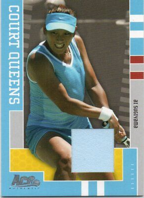 Ai Sugiyama 2005 Ace Authentic Court Queens Game Used Shirt Card /250 Japan
