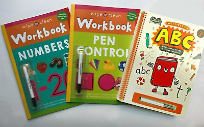 Learn to Write Letters, Numbers and Colours & Shapes Wipe & Clean Activity Books