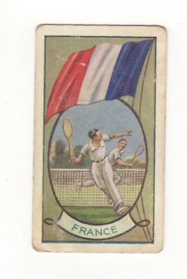 Allen's Confectionery - Sports and Flags of Nations - France Tennis