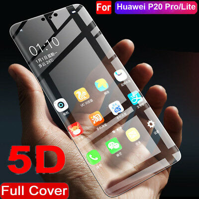 For Huawei P20 Pro/Lite 5D Curved Full Cover Temper Glass Screen Protector Guard
