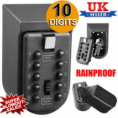 Outdoor Wall Mounted Key Safe Box Secure Lock High Security Combination UKME