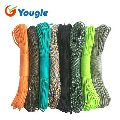 YOUGLE 108 colors Paracord 550 Parachute Cord Lanyard Rope Mil Spec Type III 7 S