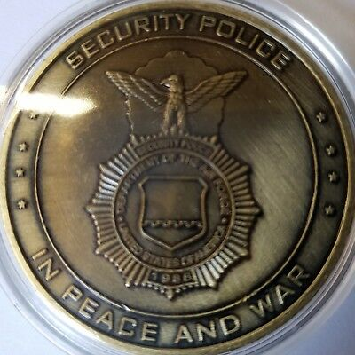 """Massiver Airforce Security Police """" In Peace and War"""" Challenge Coin"""