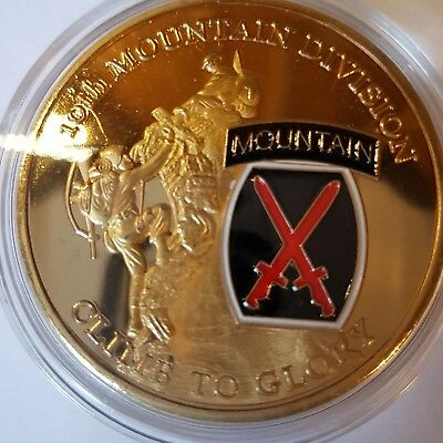 Massiver 10th Mountain Division Challenge Coin