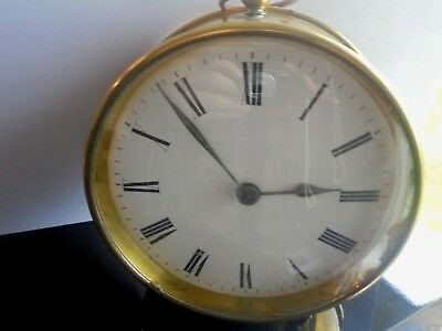 EDWARDIAN  era  BRASS MANTLE CLOCK