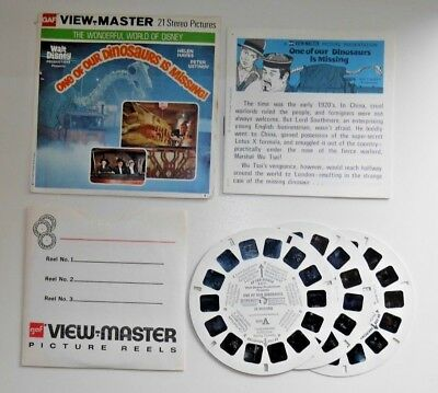 One Of Our Dinosaurs Is Missing! Walt Disney Viewmaster Reels B377 Rare    B349