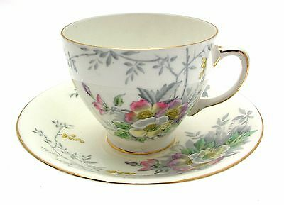 c1935 Sampson Smith Old Royal Pastel Floral 3000 Cup and Saucer