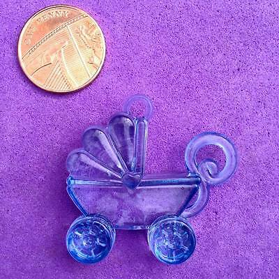 6 x Large Blue Pram/Pushchair Charms, Baby Shower Gift, Christening Favours