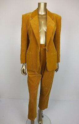 Classic Country Road High Waist Cord Pleat Pants & Jacket Blazer - Size 8