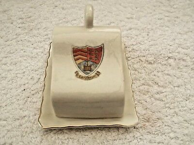 Model Of A Cheese Dish  Crested Caterham  By Gemma China Czecho-Slovakia
