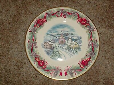 Lenox Villages Around The World New England Hilltop Collector Plate 2000 XMAS