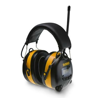 Digital Adjustable Ear Muff Radio Music Work Hearing Protection DEWALT *NEW*