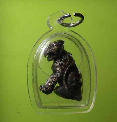 Gorgeous Tiger Lp Ear Old Thai Buddha Amulet Very Rare !!!