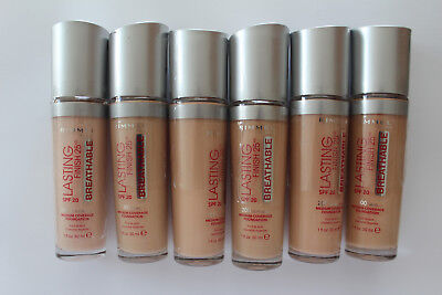 Rimmel Lasting Finish 25H Breathable Foundation 30ml - Please Choose Shade: