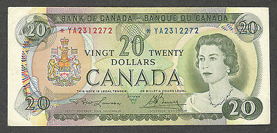 1969 $20.00 *YA BC-50bA VF Very SCARCE Bank of Canada ASTERISK REPLACEMENT Note
