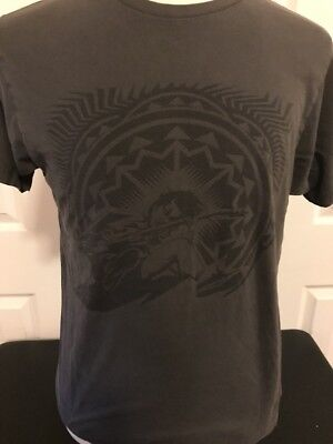 AC/DC GRAY T-Shirt Back Ice 2009 AC DC Hells Bell 100% cotton M Med Rare