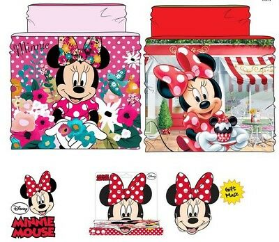 Fascia Collo Multiuso Sciarpa Scaldacollo In Pile Bambina Disney Minnie