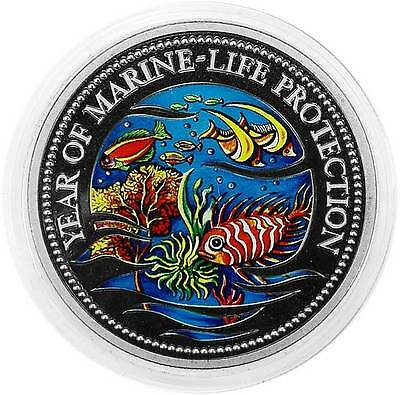 PALAU 1 DOLLAR 1992 PF Year of Marine-Life Protection - MERMAID