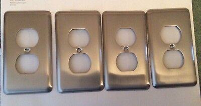 Amertac Steel Electrical Flush Device Outlet Wall Cover Plate Lot Of 4