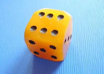 "Big Art Deco Bakelite Dice 1"" Tested"