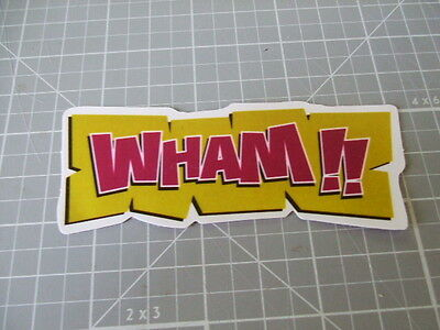WHAM!! Sticker/ Decal Bumper Stickers Skateboarding NEW