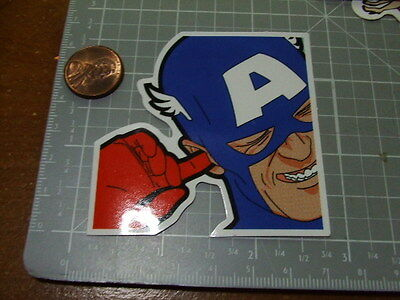 SKATEBOARD STICKER CAPTAIN AMERICA GLOSSY Sticker/ Decal Bumper Stickers