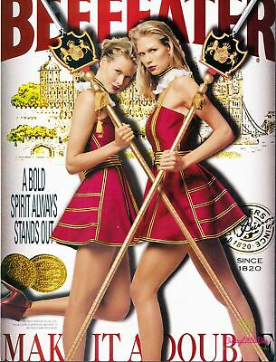 Print Ad~2001~Beefeater Gin~Twin Girls~Guards~Advertisement~G900