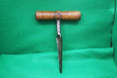 Antique Vintage Coopers Barrel Bunghole Bung Hole Reamer Tool 1158