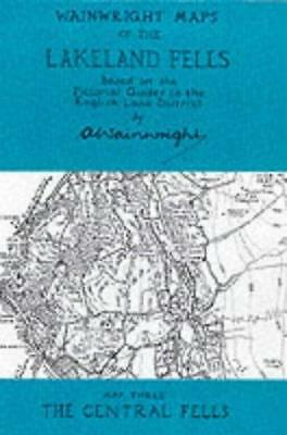 Wainwright Maps of the Lakeland Fells: Map 3: The Central Fells by Alfred...