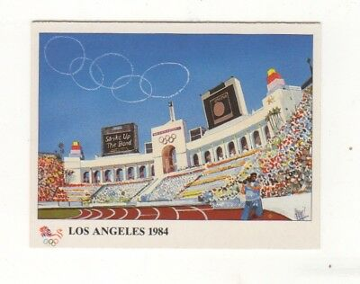 USA. Los Angeles Olympic Stadium card