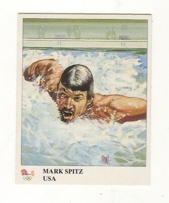 USA. Mark Spitz Olympic swimming card