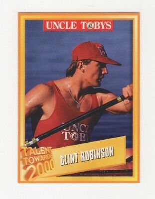 Uncle Tobys Cereal Trade Card: Clint Robinson Kayak