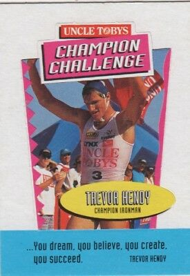 Uncle Tobys Cereal Trade Card: Trevor Hendy Iron Man