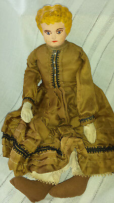 DOLL1900 antique Karl Standfuss JUNO German metal head VTG Antique TIN TOY