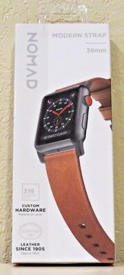 Nomad - Modern Strap - Horween Leather for Apple Watch 38mm (Brown) NEW!