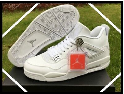 check out ca65b 52df4 Nike Air Jordan Retro 4   Pure Money   White Metallic Men s Trainers All