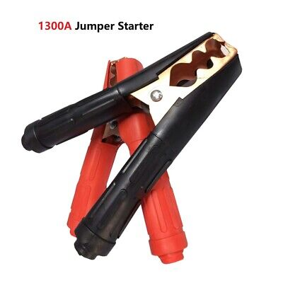 2Pair Heavy Duty 1300A Battery Charger Clips Clamps Jumper Cable Jump Starter