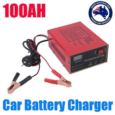 Car Battery Charger Automatic Intelligent Pulse Repair Type 220V 12V/24V 100AH @