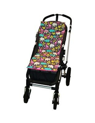 Tivoli Couture Luxury Memory Foam Stroller Liner, At The Zoo pink