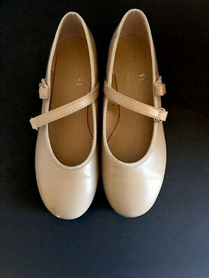 Youth Girls Size 13.5 ABT Spotlights Tan Tap Shoes American Ballet Theater Dance