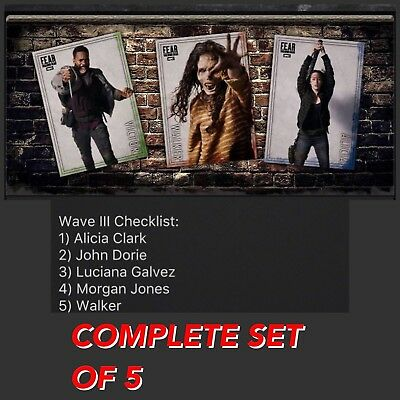 FEAR ACTION BLACK WAVE 3 COMPLETE SET OF 5 Walking Dead Card Trader Digital