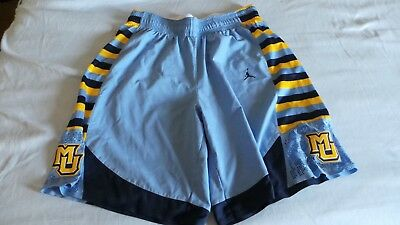 339a654c1bcb Nike Jordan Authentic Game Issued MU Marquette Golden Eagles shorts s 42  Large L