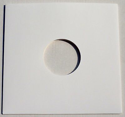 """50 12"""" White Card Record Sleeves Covers Disco Bags / Gloss Finish *New* Free P+P"""