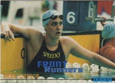Australian Olympic Card. Swimming - Emma Johnson
