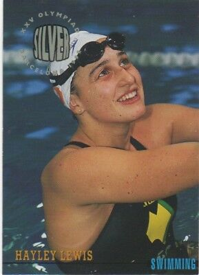 Australian Olympic Card. Swimming - Hayley Lewis (Silver Medal)