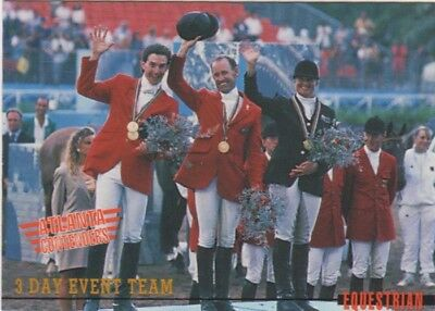 Australian Olympic Card. Equestrian - 3 Day Event Team