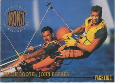 Australian Olympic Card. Yachting - MItch Booth & John Forbes (Bronze Medal)