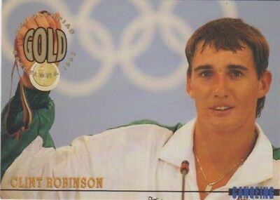 Australian Olympic Card. Kayaking - Clint Robinson (Gold Medal)