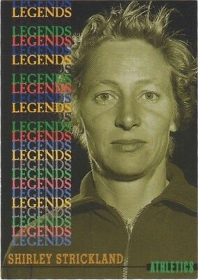 Australian Olympic Card. Athletics Legend - Shirley Strickland